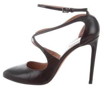 Alaia Leather Ankle Strap Pumps
