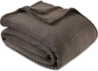 "Berkshire PrimaLushTM Plush Embossed Plaid 60"" x 90"" Twin Blanket"
