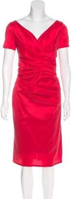 Talbot Runhof Midi Sheath Dress