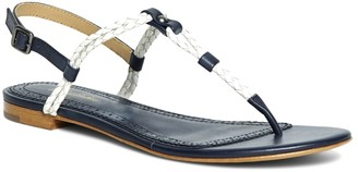 Brooks Brothers Braided Calfskin Sandals