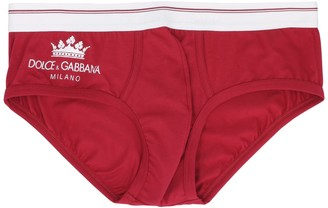 Cotton Briefs With Elastic Logo Band