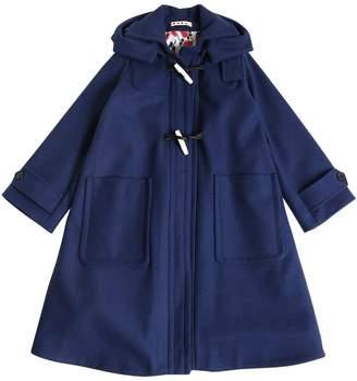 Hooded Wool Felt Coat