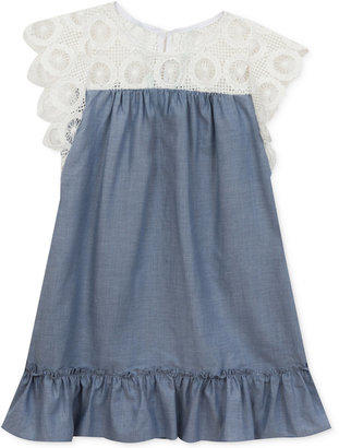 Rare Editions Lace & Chambray Dress, Toddler & Little Girls (2T-6X) $44 thestylecure.com