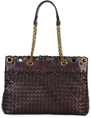 Bottega Veneta Small Lace Intrecciato Tote Bag