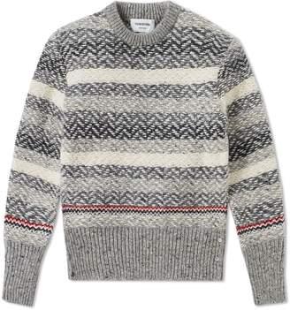 Thom Browne Herringbone Stripe Crew Knit