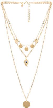 Rebecca Minkoff Triple Layer Paisley Necklace