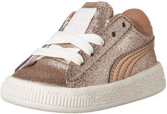 Puma Girl's Basket Holiday Glitz Inf Sneakers