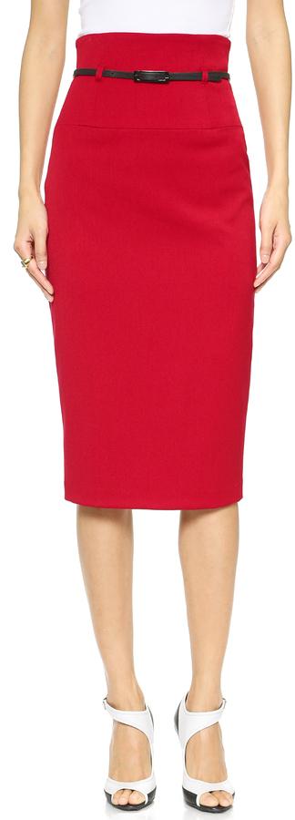 Black Halo High Waisted Pencil Skirt - ShopStyle.co.uk Women