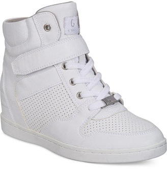 G by Guess Doxin High-Top Sneakers Women's Shoes $69 thestylecure.com