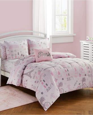 Sanders Love Paris 7 Pc Full Comforter Set Bedding