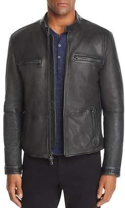 John Varvatos Zip-Front Leather Jacket - 100% Exclusive