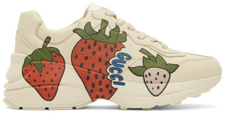 Gucci Off-White Strawberry Rhyton Sneakers