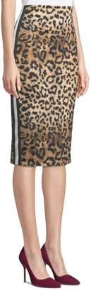 Nicole Miller New York Leopard-Print Ponte Pencil Skirt