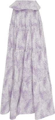 Leal Daccarett Pelicano Tiered Maxi Skirt