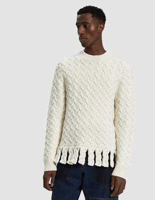 J.W.Anderson Chunky Fringe Sweater