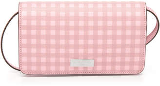 Henri Bendel West 57Th Gingham Xl Smartphone Case Crossbody