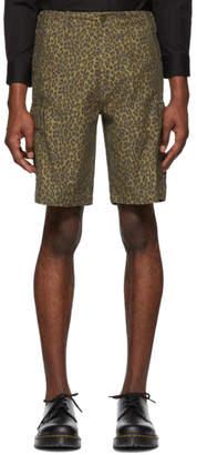 Levi's Levis Brown Cheetah Hi-Ball Roll Cargo Shorts