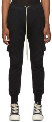 Rick Owens Black Jogger Cargo Trousers