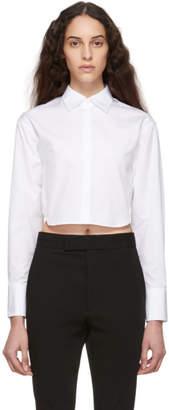 DSQUARED2 White Cotton Poplin Cropped Shirt