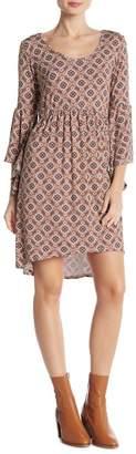 Loveappella Ruffle Sleeve Babydoll Dress