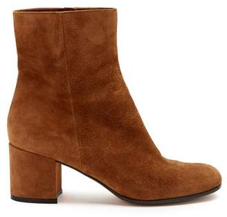 Gianvito Rossi Margaux 60 Suede Ankle Boots - Womens - Tan