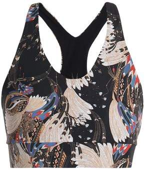 Lucas Hugh Erte Printed Stretch-Jersey Sports Bra