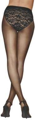 Donna Karan Lace Control-Top Tights