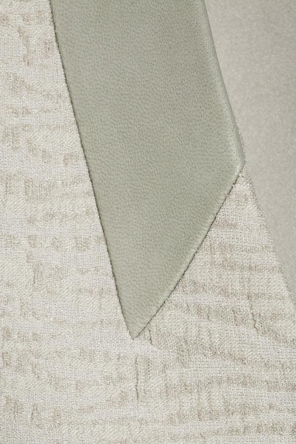 Helmut Lang Asymmetric leather-trimmed jacquard jacket