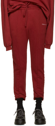 Vetements Burgundy Embroidered Logo Lounge Pants $770 thestylecure.com