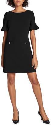 Tommy Hilfiger Women's Flutter-Sleeve Two-Pocket Shift Dress