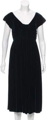 Alberta Ferretti Velvet Midi Dress