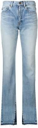 Saint Laurent contrast flared jeans
