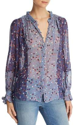 Paige Dorothy Floral Silk Blouse