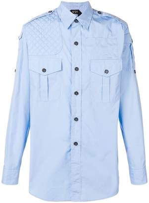 No.21 quilted shoulder shirt