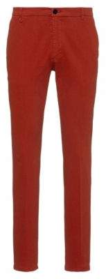 HUGO Extra-slim-fit trousers in stretch cotton