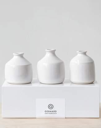 Gerhard Ceramics bud vase gift set glossy white (Default)