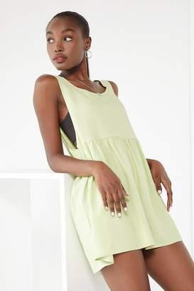 Urban Renewal Vintage Remnants Linen Babydoll Mini Dress