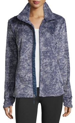 The North Face Novelty Osito Fleece Sport Jacket, Indigo Blue Marble $110 thestylecure.com