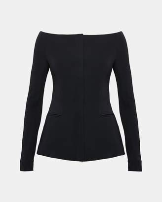 Theory Off-The-Shoulder Crepe Jacket