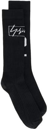 Y-3 ribbed design socks