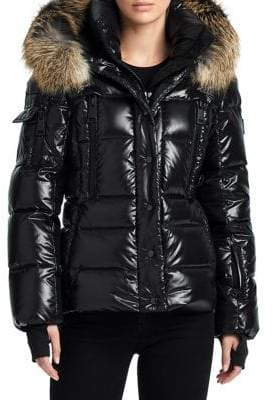 SAM. Fox Fur Trim Decade Puffer Jacket
