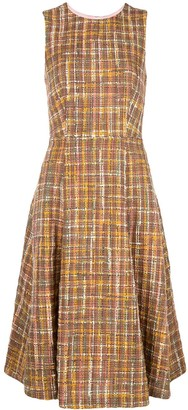 ADAM by Adam Lippes check tweed fluted dress