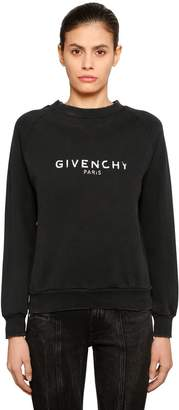 Givenchy Vintage Logo Cotton Jersey Sweatshirt
