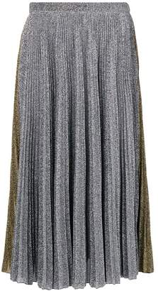 Philosophy di Lorenzo Serafini two-tone metallic pleated skirt