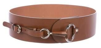 Gucci Leather Horsebit Belt