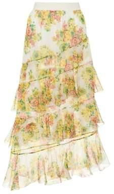 Zimmermann Golden printed silk skirt
