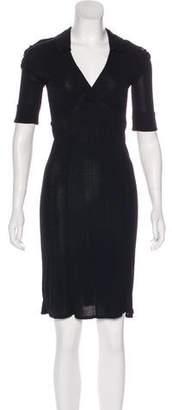 Burberry V-Neck Knee-Length Dress
