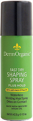 Ulta Dermorganic Travel Size Fast Dry Shaping Spray Plus Hold