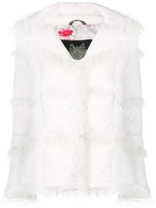 Mr & Mrs Italy fur-trimmed down jacket