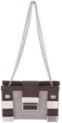 Giuseppe Zanotti Leather-Trimmed Shoulder Bag